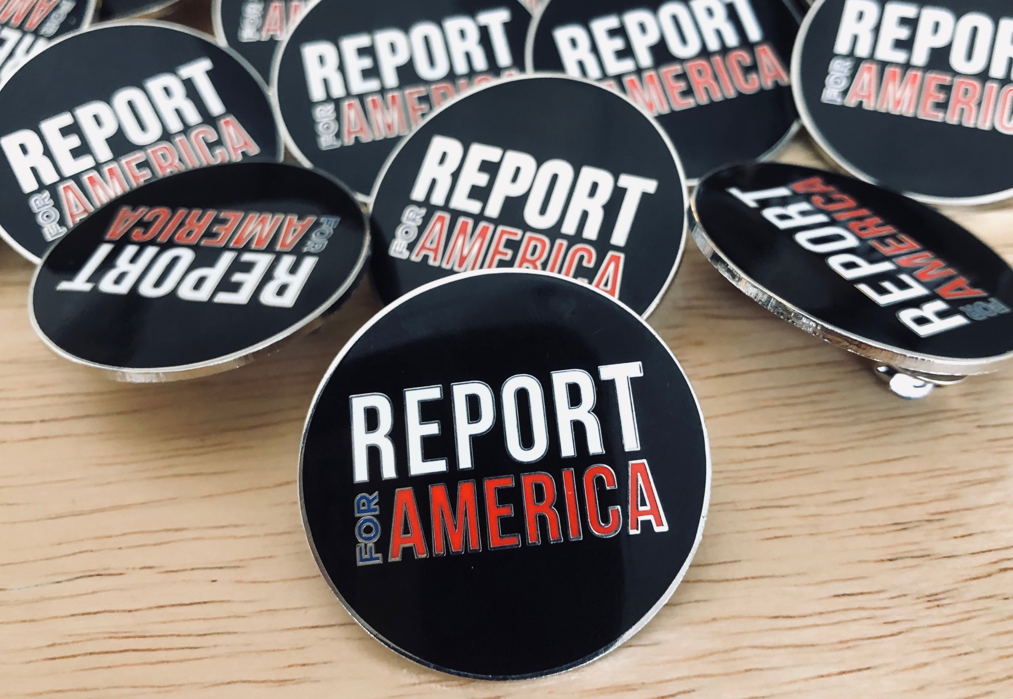 Report for America pins